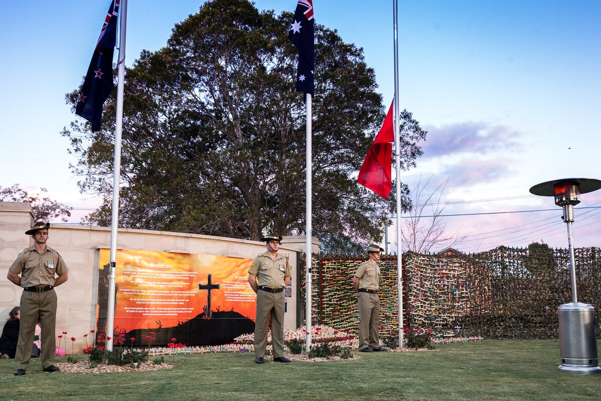 War Memorial Mural painted for Woronora Cemetery