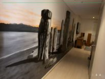 hallway feature wall mural