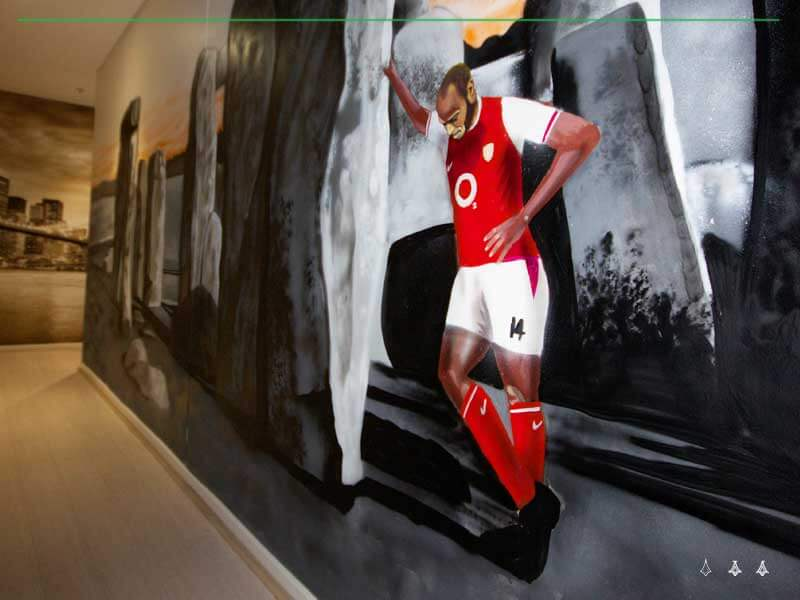 Thierry Henry painting