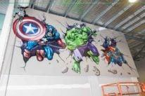 superhero graffiti