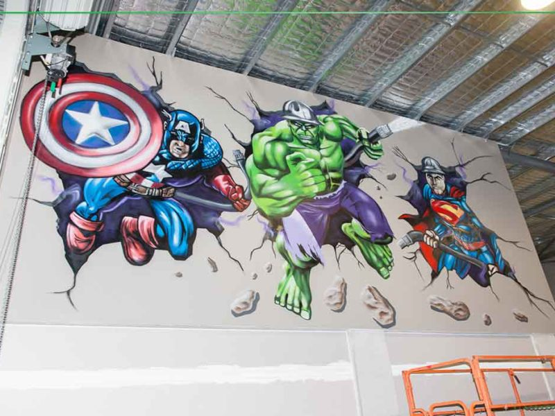 superhero graffiti