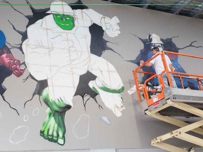 hulk smash street artist