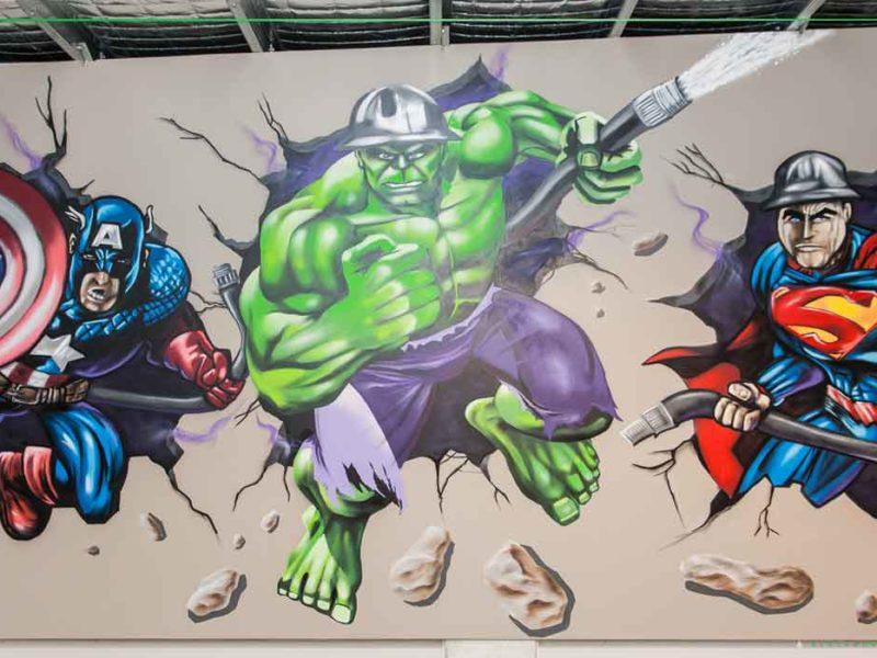 warehouse graffiti art