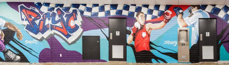 graffiti murals PCYC
