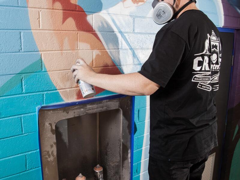 Sydney artist in action