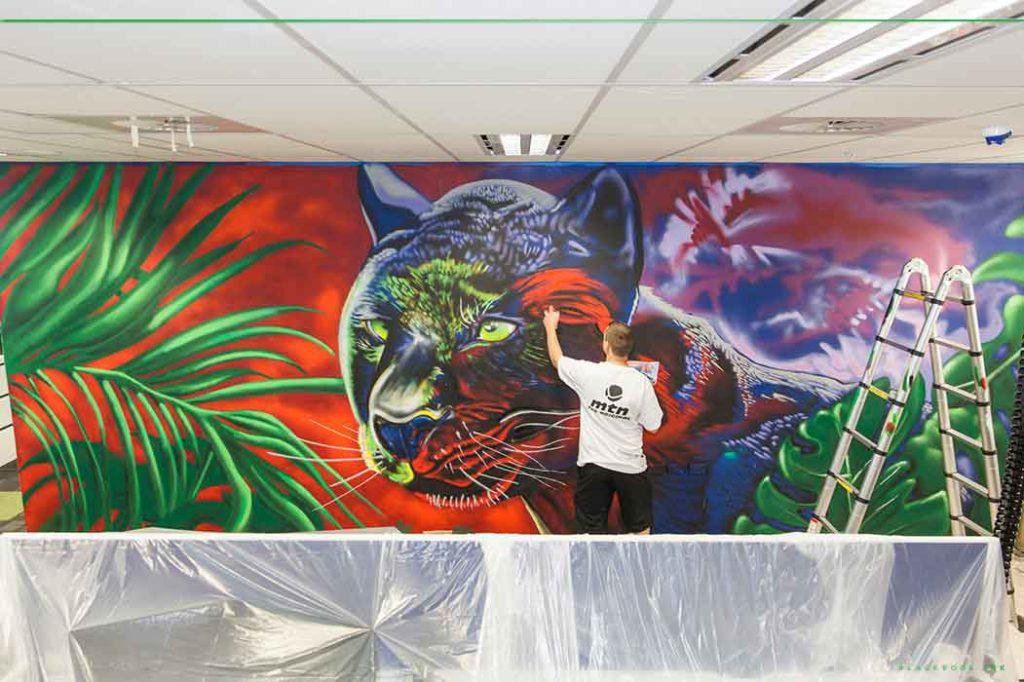 Graffiti murals painted in Sydney