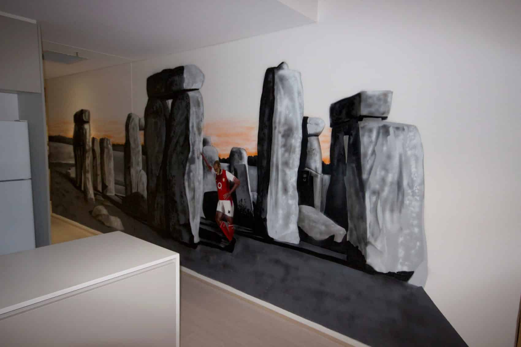 stone henge mural art wall painted in Mascot