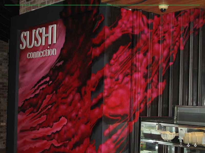 sushi feature wall
