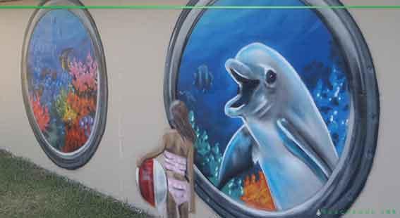 dolphin graffiti art