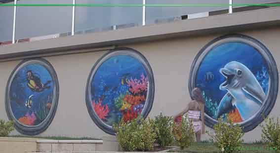 ocean graffiti art