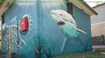 shark and octopus mural