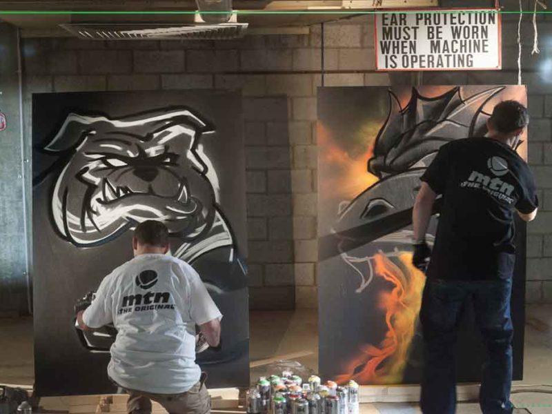 live graffiti art
