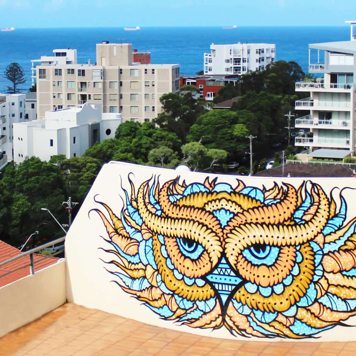 rooftop street art