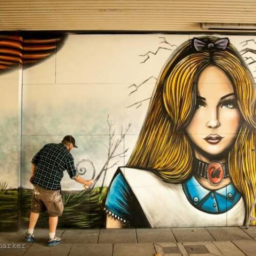 Perth Street Artist Paul Deej