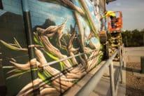 Sydney Water Mural by Blackbook Ink graffiti artist