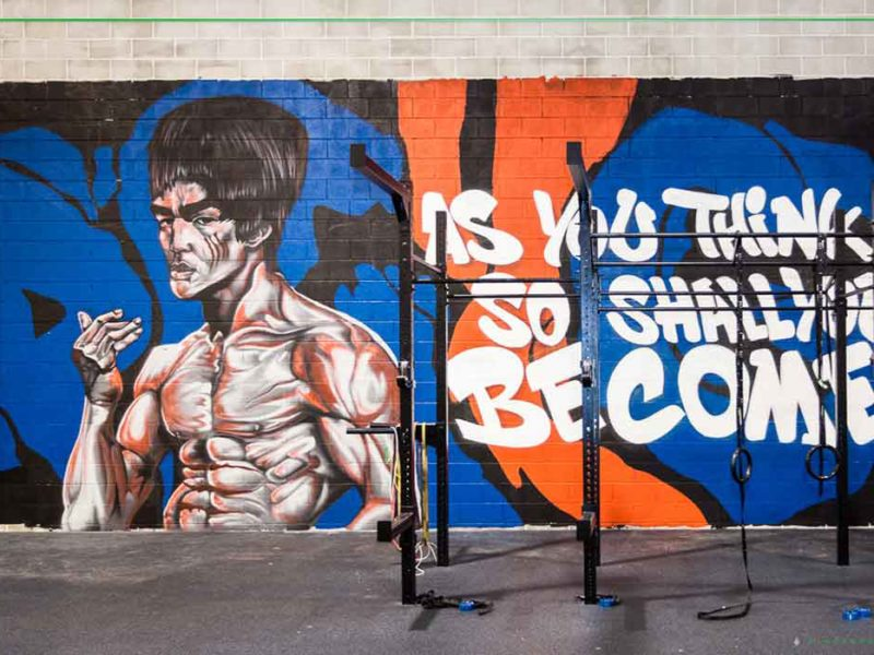 gym graffiti art