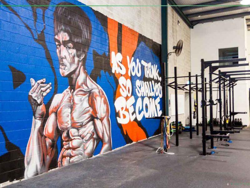 gym mural art
