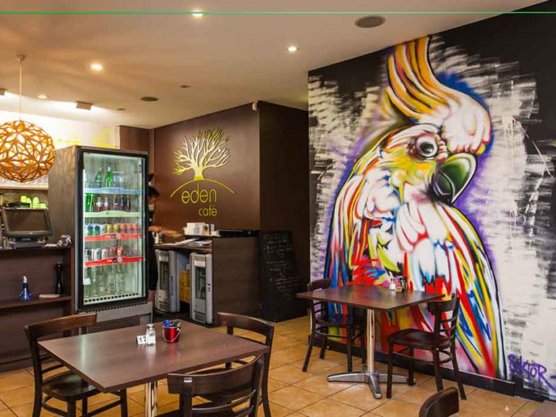 cafe graffiti art