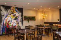 cafe graffiti murals