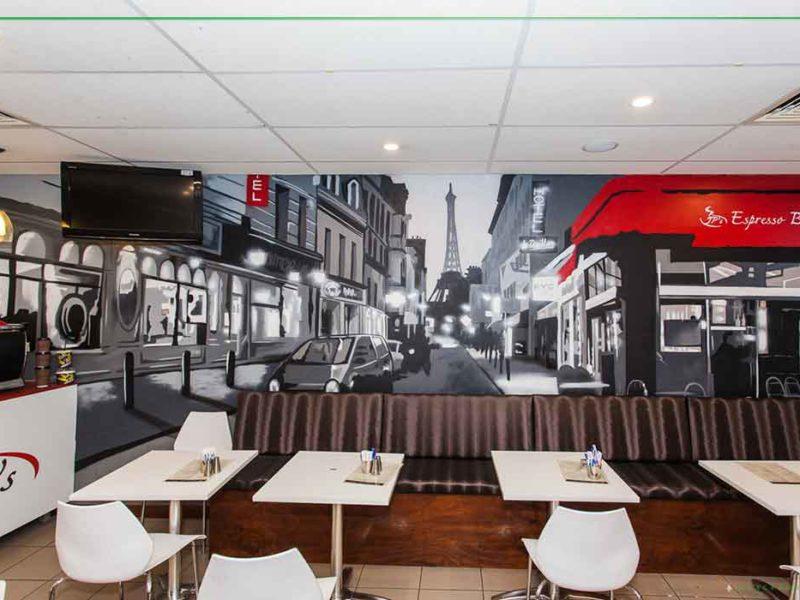Sydney street art cafe