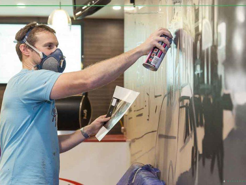 sydney street artist painting