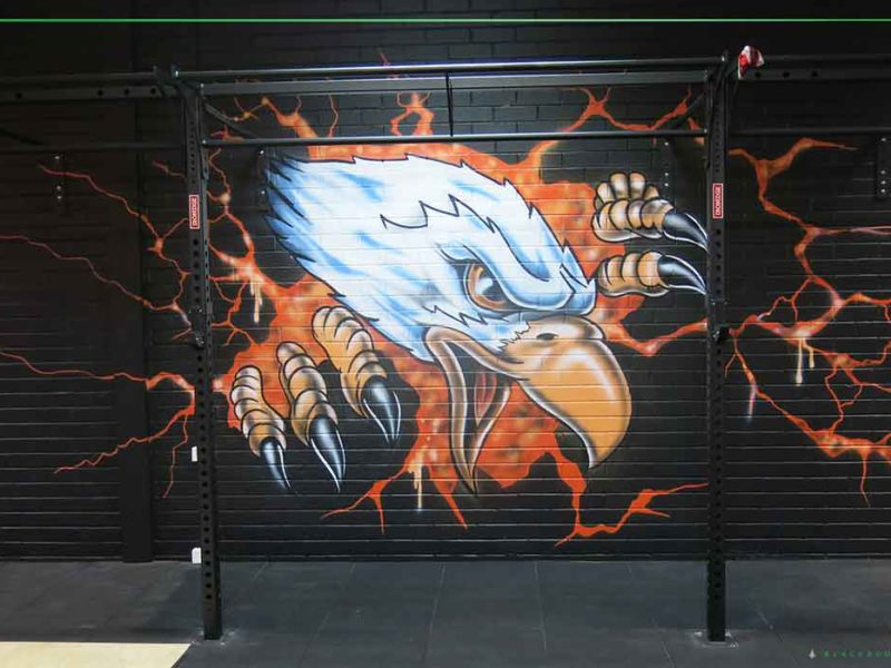 crossfit graffiti art