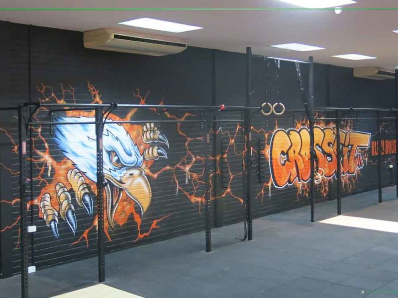crossfit murals