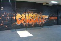 graffiti lettering for gym