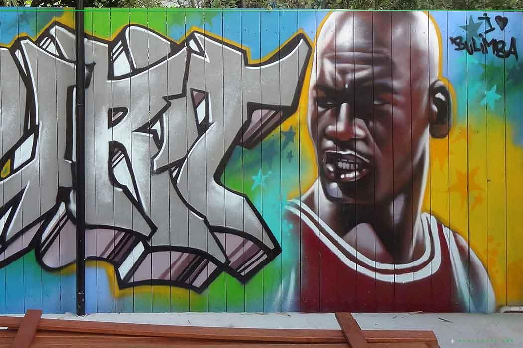 Basketball court mural 3 blackbook ink for Basketball mural