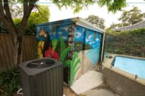 pool shed street art mural