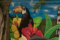 pool street art mural