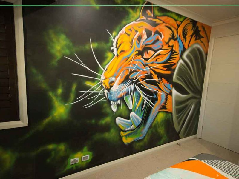 urban art kids bedroom