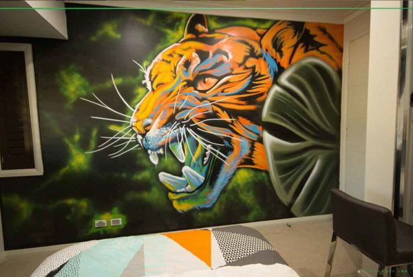 kids street art bedroom