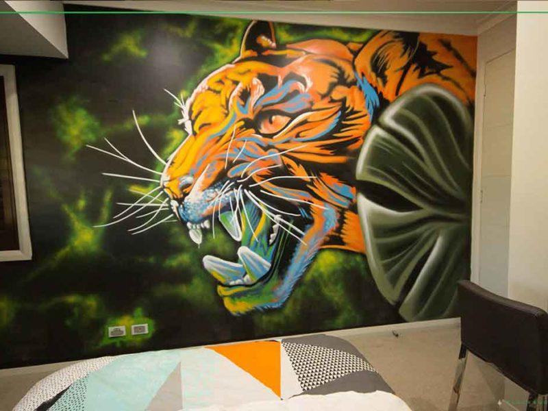 kids street art bedroom