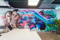 office graffiti art sydney