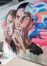 graffiti art in office