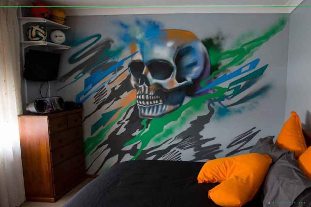 kids bedroom mural