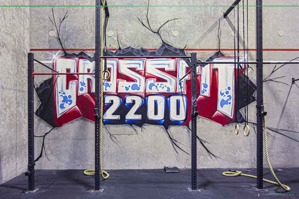 Crossfit 2200 Graffiti Lettering