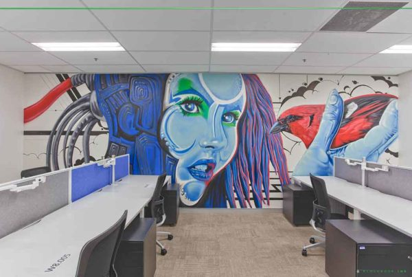 indoor office wall murals