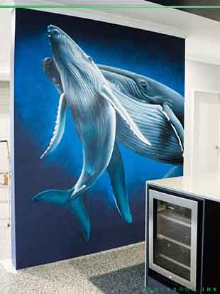 whale mural by Destroy