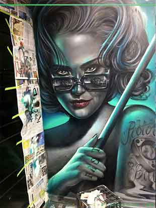 Airbrush mural by Destroy