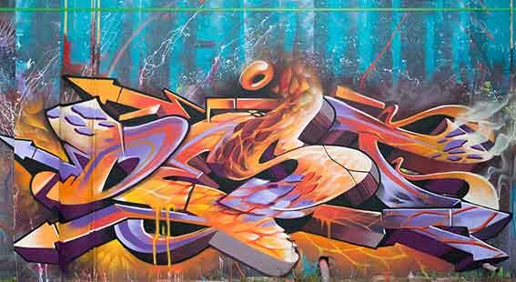 Destroy graffiti art