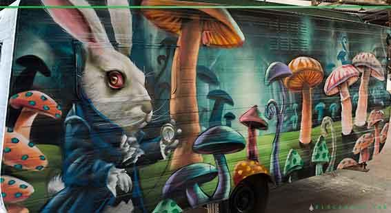 caravan graffiti art by Destroy