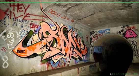 dvate tunnel graffiti