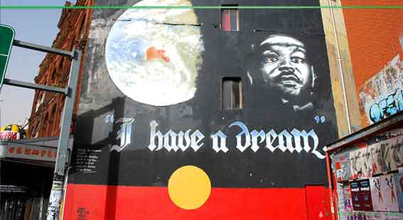 I have a Dream Mural painted on King St Newtown
