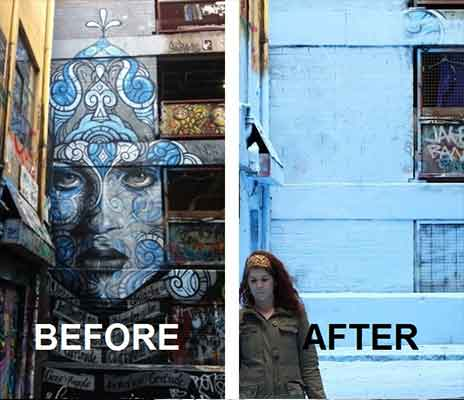 Hosier lane before and after