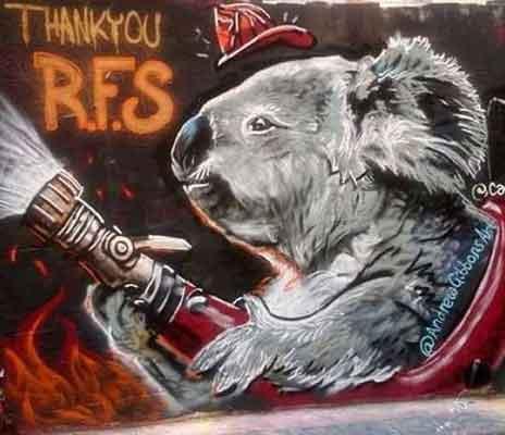 Koala mural at Hosier Lane