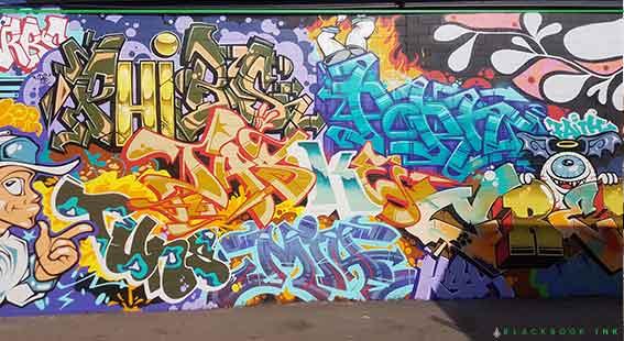 Newcastle graffiti jam wall