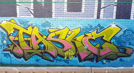 Newcastle NSW graffiti artist Taske